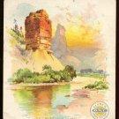 CLARK'S O.N.T. SPOOL COTTON THREAD Victorian Trade Card - Green River, Colorado