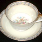 Vintage NORITAKE China - Cup and Saucer Set - SWANSEA Pattern (#685)