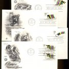 ART CRAFT - 1972 Olympic Summer & Winter Games (#1460-62, C85) Set of 4 FDCs - UA