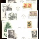 1970s - 10 Different ART CRAFT Cacheted FDCs - All UA