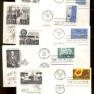 1960s - 10 Different ART CRAFT Cacheted FDCs - All UA