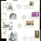 1960s - 10 Different ARTMASTER Cacheted FDCs - All UA