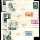 1950s - 10 Different ART CRAFT Cacheted FDCs - All UA
