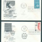 1960 - 10 Different ART CRAFT Cacheted FDCs - All UA