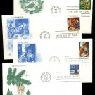 1960s/1970s - 12 Different Christmas Stamp Cacheted FDCs - All UA