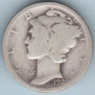 1920 Mercury Dime (U.S. Coin - 90% Silver) - Circulated