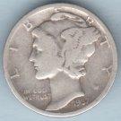 1937 Mercury Dime (U.S. Coin - 90% Silver) - Circulated