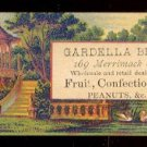 GARDELLA BROTHERS Victorian Trade Card - Fruit, confectionery, and peanuts