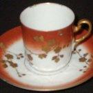 Vintage Demitasse Cup & Saucer (chipped) - P. H. Leonard, Limoges