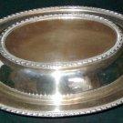 Vintage FRIEDMAN SILVER CO. Covered Oval Divided Vegetable Bowl - Pattern #1051