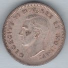CANADA - 1942 King George VI Dime / Ten Cent Coin (80% Silver) - Circulated