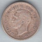 CANADA - 1943 King George VI Dime / Ten Cent Coin (80% Silver) - Circulated