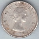 CANADA - 1959 Queen Elizabeth II Dime / Ten Cent Coin (80% Silver) - Circulated