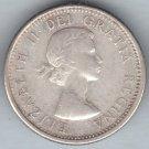 CANADA - 1961 Queen Elizabeth II Dime / Ten Cent Coin (80% Silver) - Circulated
