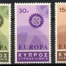CYPRUS -1967 EUROPA (Sc. #297-99) - MNH Singles