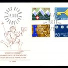 SWITZERLAND - 1968 Alpine Club, Europa, Chess Olympics, Geneva Airport (Sc. #487-90) FIRST DAY COVER
