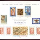 UNITED NATIONS POSTAL ADMINISTRATION Souvenir Card #2 - 1972 ART ON U.N. POSTAGE STAMPS - Mint