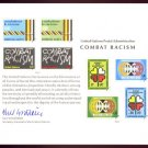 UNITED NATIONS POSTAL ADMINISTRATION Souvenir Card #12 - 1977 COMBAT RACISM - Mint