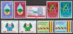 UNITED NATIONS (Geneva) - 1977 Complete Year Set (Sc. #64-72) - MNH