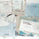 Vintage National Geographic Society Maps (1964-1996) - 28 Different