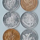 10 Different 1975 New Orleans Mardi Gras Doubloons / Tokens / Medallions