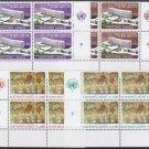 UNITED NATIONS (Geneva) - 1974 Complete Year Set (Sc. #37-45) - Inscription Blocks of 4 - MNH