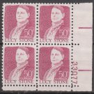 1968 LUCY STONE 50¢ (Sc. #1293) Plate Block - MNH