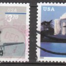 U.S. High-Value Stamps - 2 Different Priority Mail (Sc. #3261, 3647a) - Used