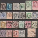 BELGIUM - 19th Century - 23 Different Used Postage Stamps