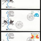 1980 UNITED NATIONS Peacekeeping Operations FDCs (3) - N.Y. (Sc. #320-1), Geneva (#92), Vienna (#11)