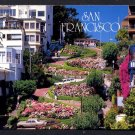 1988 SAN FRANCISCO, CALIFORNIA - Lombard Street, Cable Car - Unused Postcard