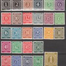 GERMANY - 1946 Complete Set of 27 Regular Issue Stamps (Sc. #530-36) - MNH