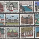 GERMANY - 1964-65 Complete Set of 12 State Capitals (Sc. #869-79A) - Used