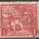 GREAT BRITAIN Stamp - 1924 - 1p British Empire Exhibition (Sc. #185) - Used