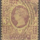 GREAT BRITAIN Postage Stamp - 1887 - 3p Queen Victoria (Sc. #115) - Used