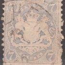 BAVARIA Postage Stamp - 1870 - 7kr Coat of Arms (Sc. #26) - Used