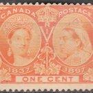 CANADA Postage Stamp - 1897 - 1c Queen Victoria Jubilee (Sc. #51) - Unused (no gum)