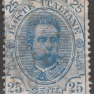 ITALY Postage Stamp - 1891 - 25c King Humbert I (Sc. #70) - Used
