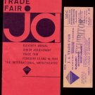 1964 JUNIOR ACHIEVEMENT Trade Fair - Booklet & Admission Ticket - Chicago