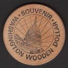 1974 - Ninth Annual M.W.N.A. Convention Souvenir Wooden Dollar - Washington, DC