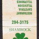 SHAMROCK MOTOR LODGE - Matchbook Cover - Winter Haven, Florida