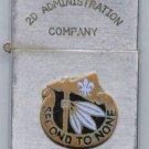 Vintage Cigarette Lighter - 2d Admin Co, 2d Infantry Division, 8th U.S. Army, Korea - Map