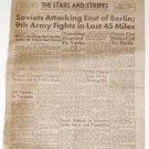 April 17, 1945 - STARS and STRIPES (Germany Edition) - Yanks reach Nurnberg
