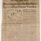 April 26, 1945 - STARS and STRIPES (Germany Edition) - Russians Circle Berlin