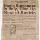 May 3, 1945 - STARS and STRIPES (Germany Edition) - Nazis Surrender in Italy