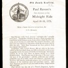 Paul Revere's Own Account of His Midnight Ride - OLD SOUTH LEAFLETS (No. 222)