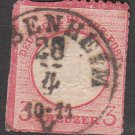 GERMANY 19th Century Postage Stamp - 1872 - 3kr Imperial Eagle (Sc. #23) - Used