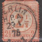 GERMANY 19th Century Postage Stamp - 1872 - 2½gr on 2½gr Imperial Eagle (Sc. #27) - Used