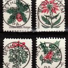 Bullseye (SOTN) First Day Dated Stamps (Set of 4) - 1964 Christmas (#1254-57)