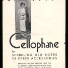 1930s (?) CELLOPHANE Dress Accessories pamphlet - Dennison Manufacturing Co.